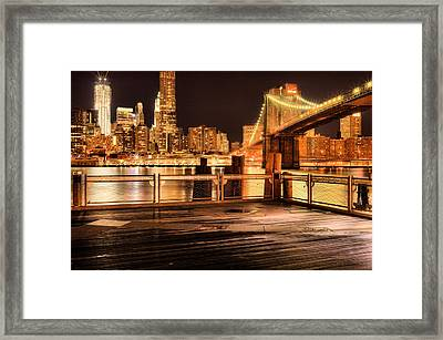 The View Framed Print by JC Findley
