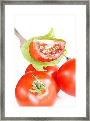 Tomatoes Framed Print by HD Connelly
