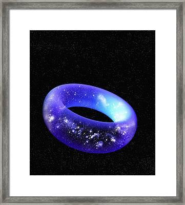 Torus Universe, Artwork Framed Print by Mehau Kulyk
