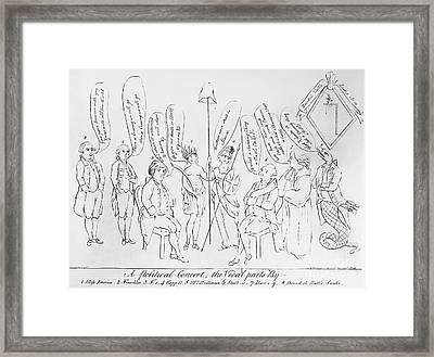 `treaty Of Paris, 1783 Framed Print by Granger
