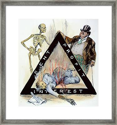 Triangle Factory Fire Framed Print by Granger