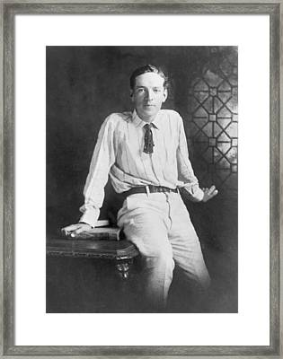 Upton Sinclair 1879-1968 American Framed Print by Everett