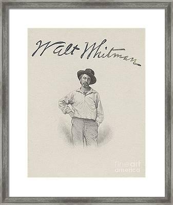 Walt Whitman, American Poet Framed Print by Photo Researchers