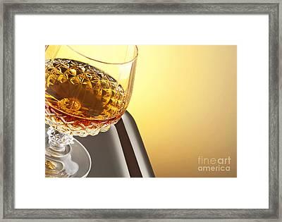 Whiskey In Stem Glass Framed Print by Blink Images