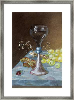 Wineglass Framed Print by Terry  Stokely