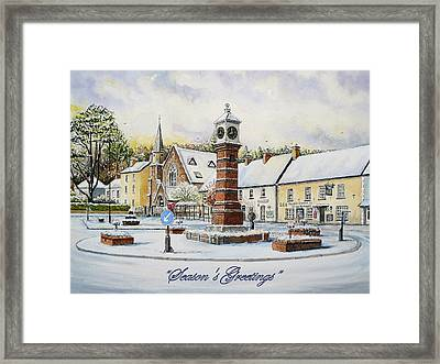 Winter In Twyn Square Framed Print by Andrew Read