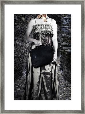 Woman In Alley Framed Print by Joana Kruse