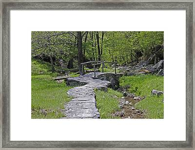 Wooden Bridge Framed Print by Joana Kruse