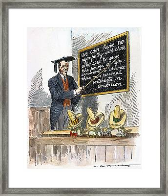 Woodrow Wilson Cartoon Framed Print by Granger