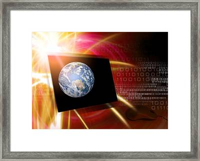 Worldwide Web, Conceptual Artwork Framed Print by Victor Habbick Visions