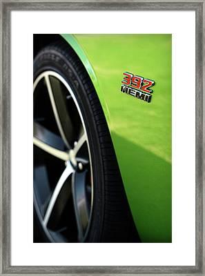 2012 Dodge Challenger 392 Hemi - Green With Envy Framed Print by Gordon Dean II
