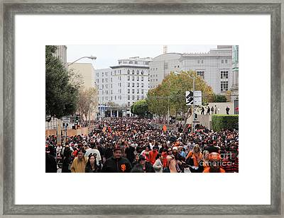 2012 San Francisco Giants World Series Champions Parade Crowd - Dpp0001 Framed Print by Wingsdomain Art and Photography