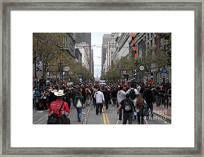2012 San Francisco Giants World Series Champions Parade Crowd - Dpp0002 Framed Print by Wingsdomain Art and Photography