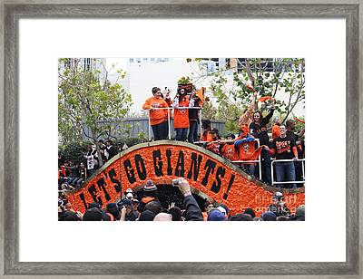 2012 San Francisco Giants World Series Champions Parade - Dpp0004 Framed Print by Wingsdomain Art and Photography
