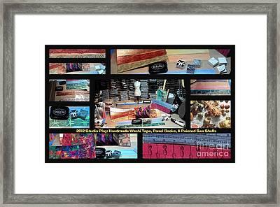 2012 Studio Play - Handmade Washi Tape And Panel Books Framed Print by Angela L Walker