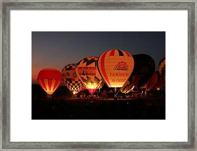 Balloons Framed Print by Rick Rauzi