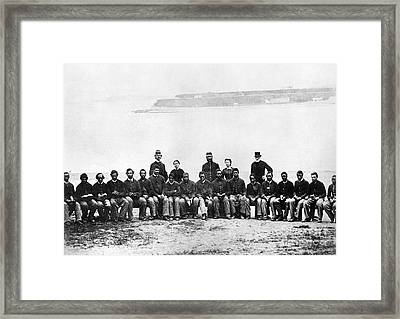 Civil War: Black Troops Framed Print by Granger