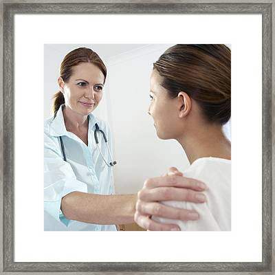 Medical Consultation Framed Print by Adam Gault
