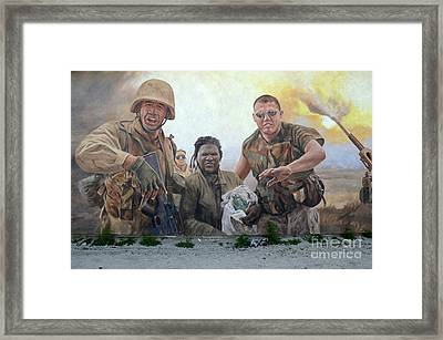 29 Palms Mural 2 Framed Print by Bob Christopher
