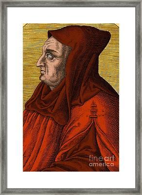 Albertus Magnus, Medieval Philosopher Framed Print by Science Source