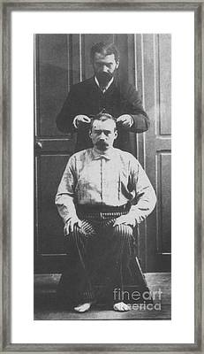 Alphonse Bertillon, French Biometrician Framed Print by Science Source