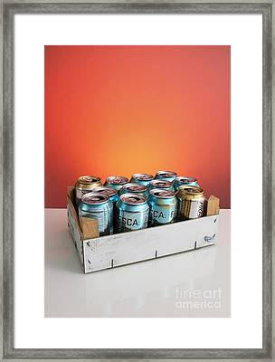Aluminum Cans For Recycling Framed Print by Photo Researchers, Inc.