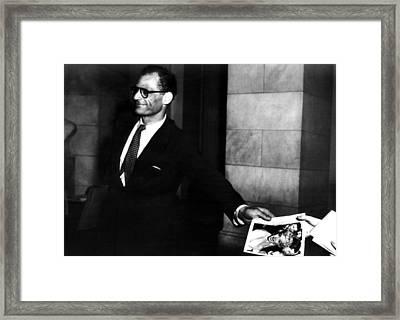 Arthur Miller, 1915-2005, American Framed Print by Everett