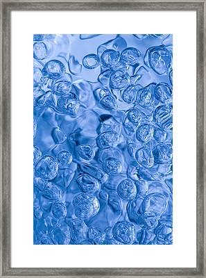 Blue Abstract Framed Print by Frank Tschakert