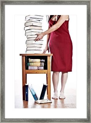 Books Framed Print by Joana Kruse