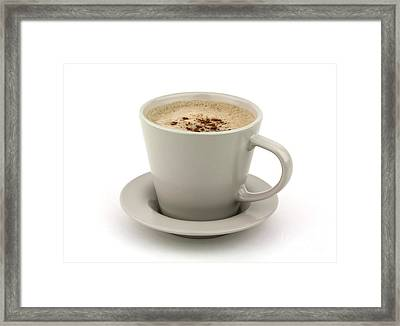 Cappuccino Coffee  Framed Print by Blink Images