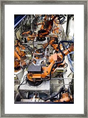 Car Factory Production Line Framed Print by Arno Massee
