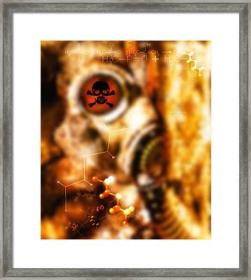 Chemical Warfare Framed Print by Mehau Kulyk