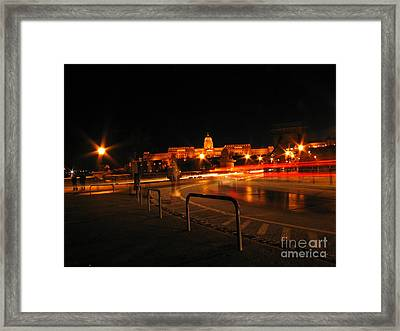 City By Night Framed Print by Odon Czintos