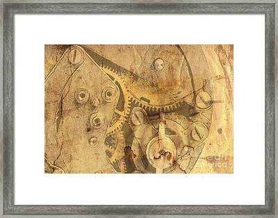Clockwork Mechanism Framed Print by Michal Boubin