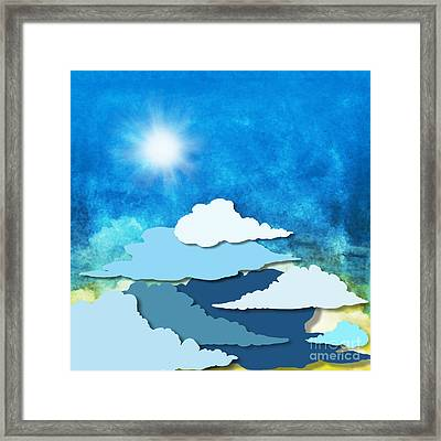 Cloud And Sky Framed Print by Setsiri Silapasuwanchai