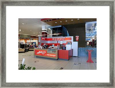 Coffee In Coffee Shop In A Large Public Framed Print by Jaak Nilson