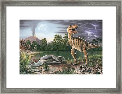 Cretaceous-tertiary Extinction Event Framed Print by Richard Bizley
