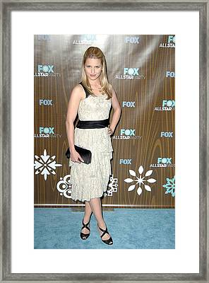 Dianna Agron At Arrivals For Fox Framed Print by Everett