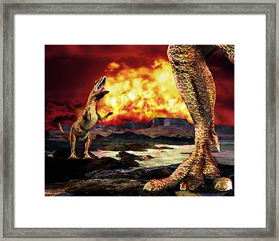 Dinosaur Extinction Framed Print by Victor Habbick Visions
