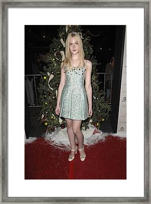 Elle Fanning At Arrivals For The Framed Print by Everett