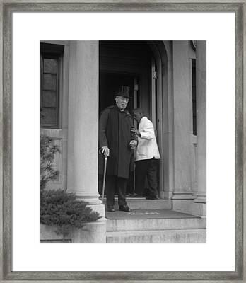 Ex-president Woodrow Wilson 1856-1924 Framed Print by Everett