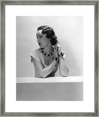 Fay Wray, Ca. 1930s Framed Print by Everett