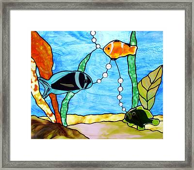 3 Fishes In The Sea Framed Print by Jane Croteau