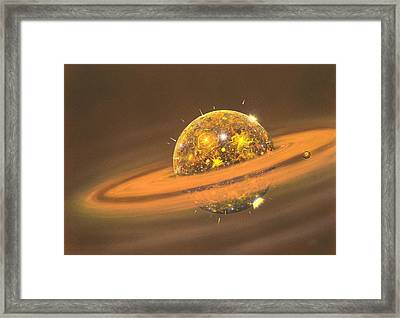 Formation Of The Moon, Artwork Framed Print by Richard Bizley