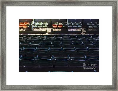 Fort Worth Stockyards Coliseum Seating Framed Print by Jeremy Woodhouse