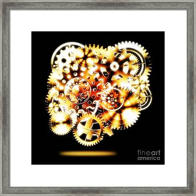 Gears Wheels Design  Framed Print by Setsiri Silapasuwanchai