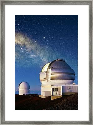Gemini North Telescope, Hawaii Framed Print by David Nunuk