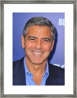 George Clooney At Arrivals For The Ides Framed Print by Everett