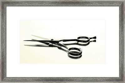 Hair Shears Framed Print by Blink Images