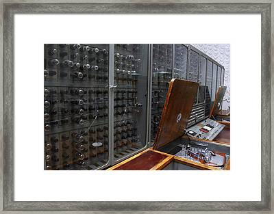 Historic Russian Computer Framed Print by Ria Novosti